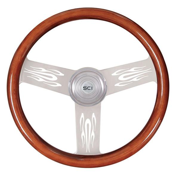 """Flame 18"""" Steering Wheel"""