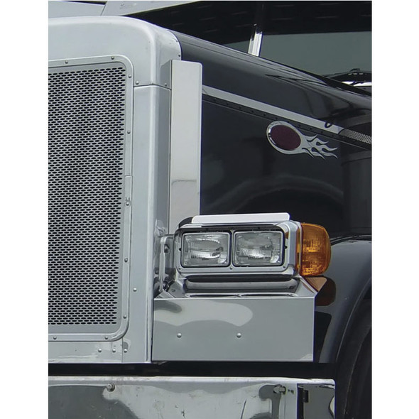 Peterbilt 379 Grill Deflector Stainless Steel