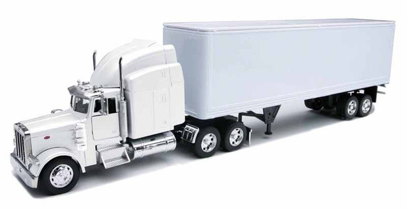 Peterbilt 379 With Dry Van Trailer In White 1/32 Scale