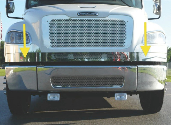 Freightliner M2 Lower Front Hood Grill Trim Front View