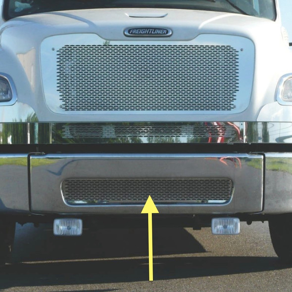 Freightliner M2 Stainless Steel Bumper Punch Grill