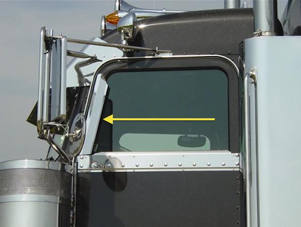 Peterbilt 359 379 362 Window Air Deflectors