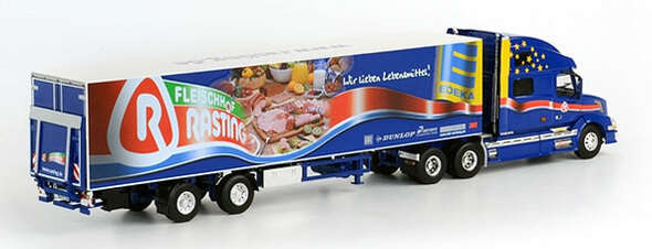 Rasting Volvo VN 780 With 2-Axle Thermo King Reefer Trailer 1/50 Scale