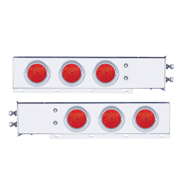 Mud Flap Hangers With LED Lights & Red Lens