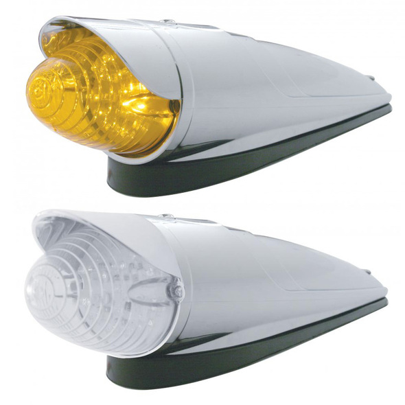 19 LED Amber Beehive Grakon 1000 Cab Light Kit With Visor Both