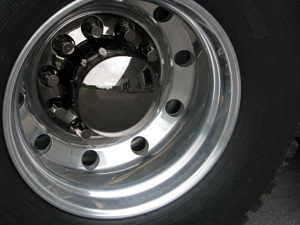 Smoke Chrome Rear Axle Cover With 33mm Lug Nut Covers - On Truck