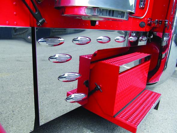 Peterbilt 379 Stainless Steel Deep Cowl Cab & Sleeper Kit Flatline LEDs