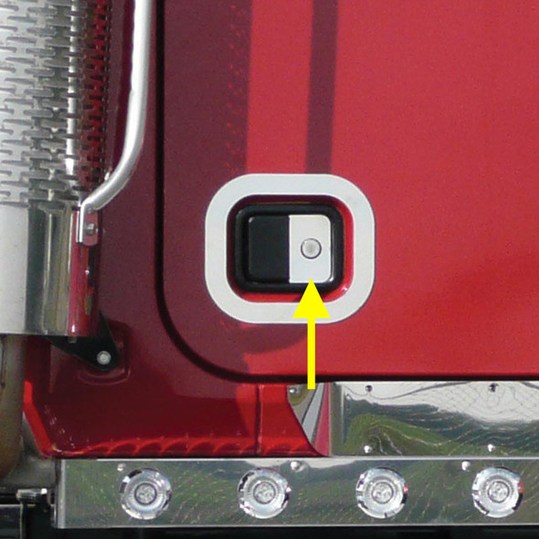Mack Granite Door Handle Lock Insert Trim - Arrow