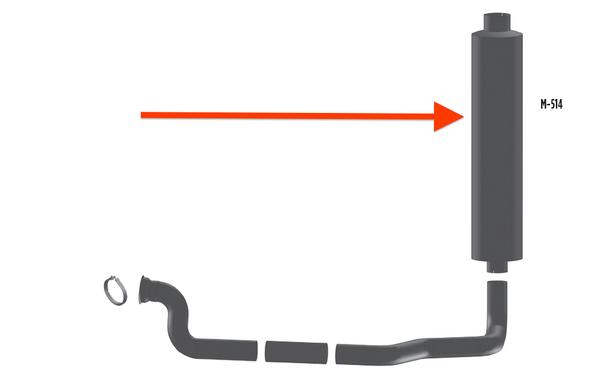 """Mack Granite & R Model Aluminized Muffler 9"""" Body Diameter"""