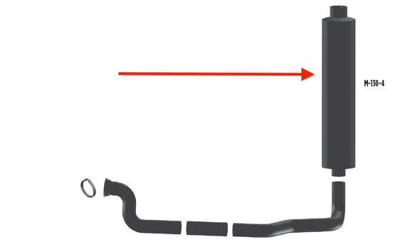 """Mack Granite & R Model Aluminized Muffler 10"""" Body Diameter"""