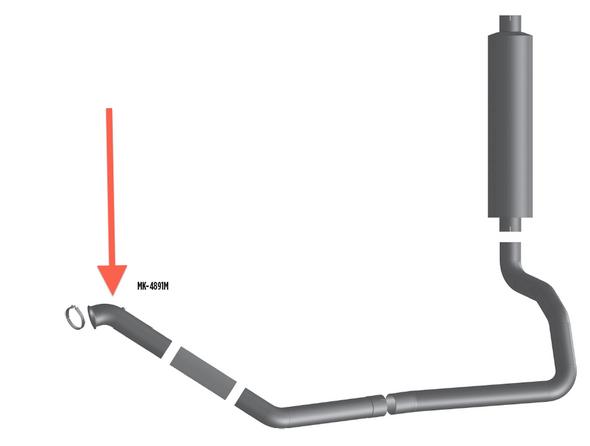 Mack R Series Aluminized Turbo Pipe 4ME-4891M
