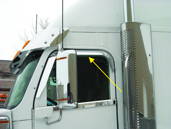 Freightliner Coronado Door Window Shade