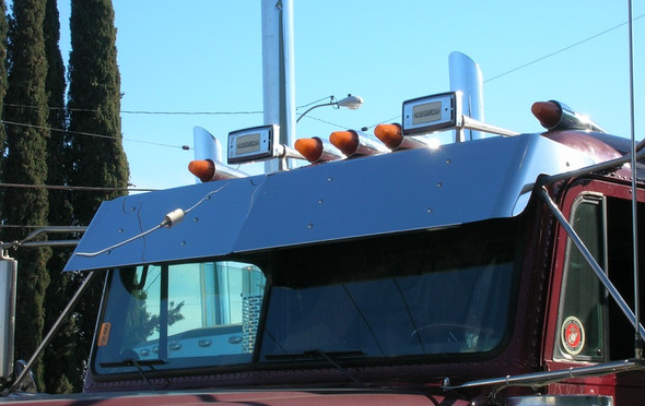 """Freightliner FLD Classic Flat Top 13"""" Visor for Trucks Without Factory Visor"""