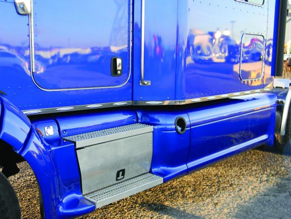 "Peterbilt 386 70"" Cab Sleeper & Extension Panel Kit With Slim Flatline LEDs For Trucks With Fairings Far View"