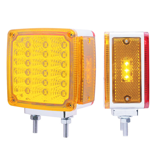 39 LED Square Double Face Turn Signal With Side LED Double Stud