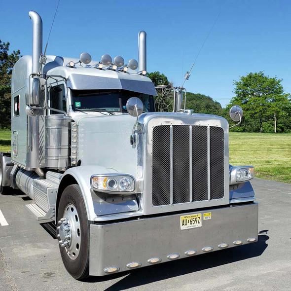 Stainless Steel Hood Mount Mirror On Truck