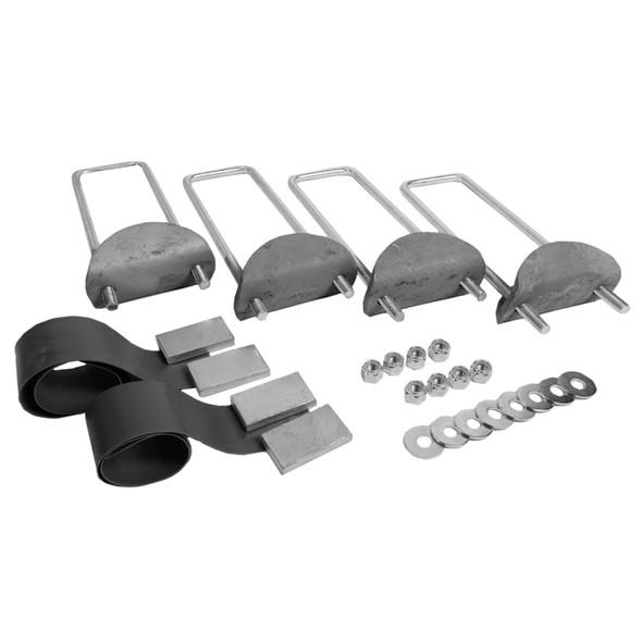Dyna Light Security Headache Rack With Chain Racks & Full Bottom Tray - Mounting Kit