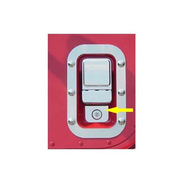 International 9900i Stainless Steel Cab Door Key Hole Trims