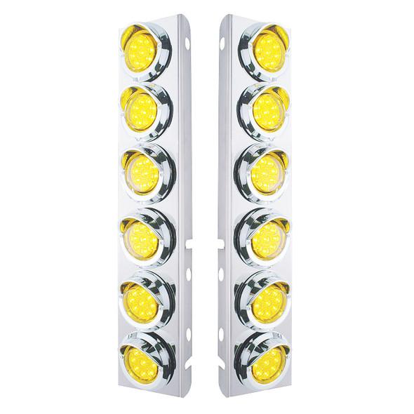 Peterbilt 379 389 Front Air Cleaner Light Bar With Amber Lens