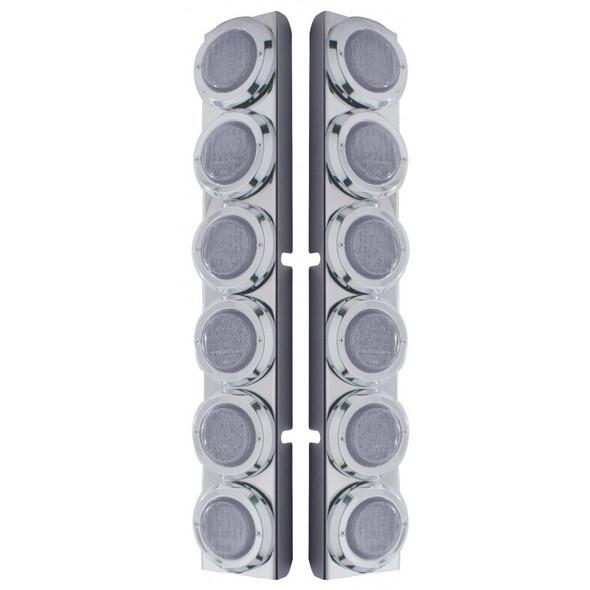 Peterbilt 379 389 Rear Air Cleaner Light Bar With 12 LEDs & Clear Lens