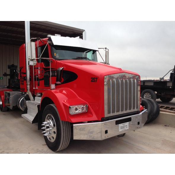"Kenworth T800 Chrome 14"" Bumper Tapered Break Back 2004 & Newer Red Truck"