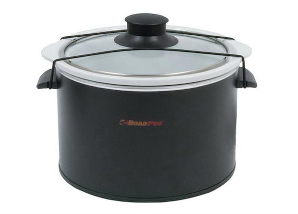 RoadPro Black 1.5 Quart Slow Cooker