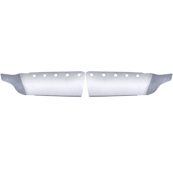 Kenworth T700 Drop Visor Stainless Steel Front View
