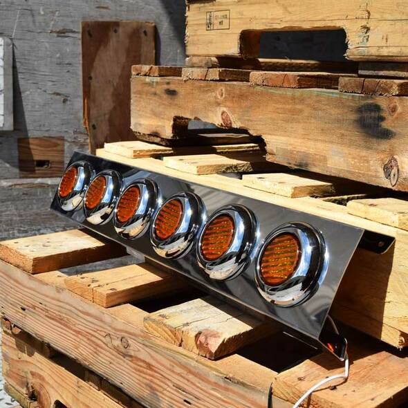"""Kenworth W900 15"""" Donaldson Front Air Cleaner Light Bar With 2"""" LEDs On Pallet"""