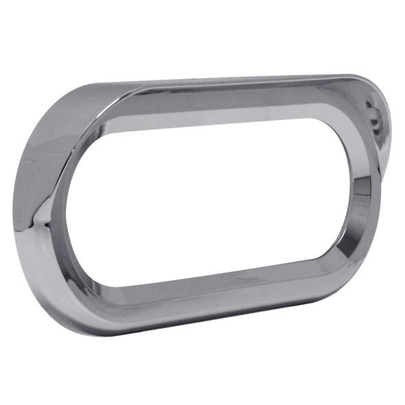 Oval Chrome Twist-On Bezel With Visor
