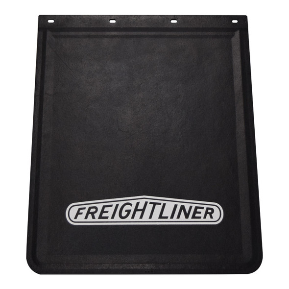 """Rubber Mud Flap With White Freightliner Logo 24"""" x 30"""""""