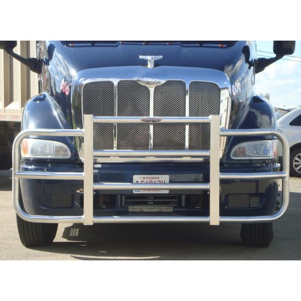 Mounted Dark Blue Truck