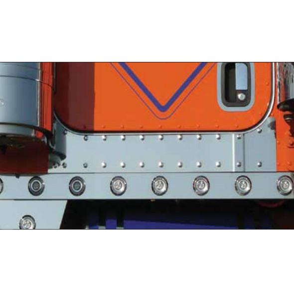 Peterbilt 379 388 389 Under Door Panels With Dimples Tape Mount Installed