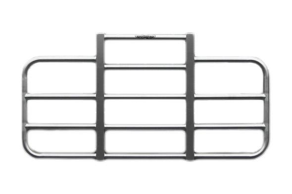 Peterbilt 388 389 Full Bar Over Headlight Rig Guard Brushed Aluminum