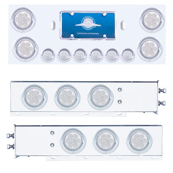 Mudflap Hanger & Rear Center Panel Kit With LED Lights & Clear Lens