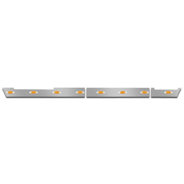 Volvo VNL 630 670 Side Fairing Panel Set With Amber LEDs