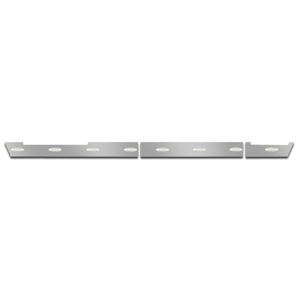 Volvo VNL 630 670 Side Fairing Panel Set With White LEDs