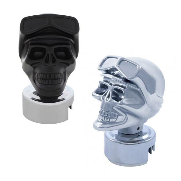 Skull Biker 13/15/18 & Super 10 Gearshift Knob Chrome & Black
