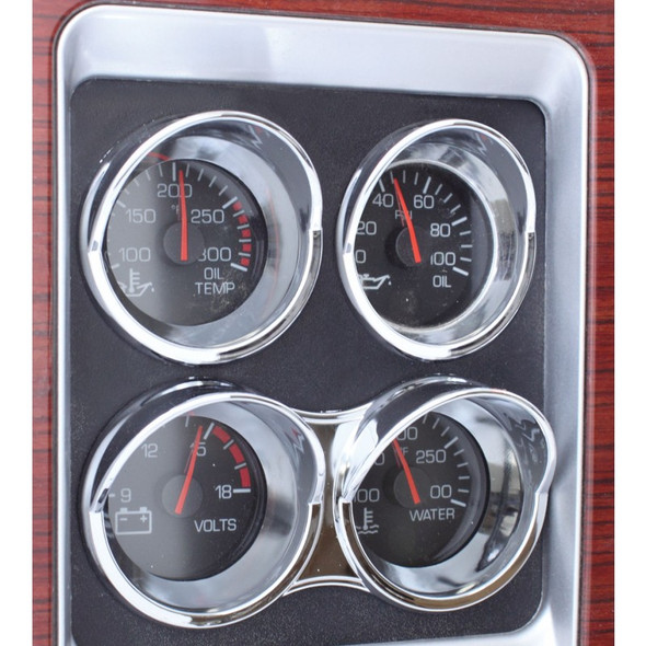 Kenworth Small Chrome Gauge Cover On Truck