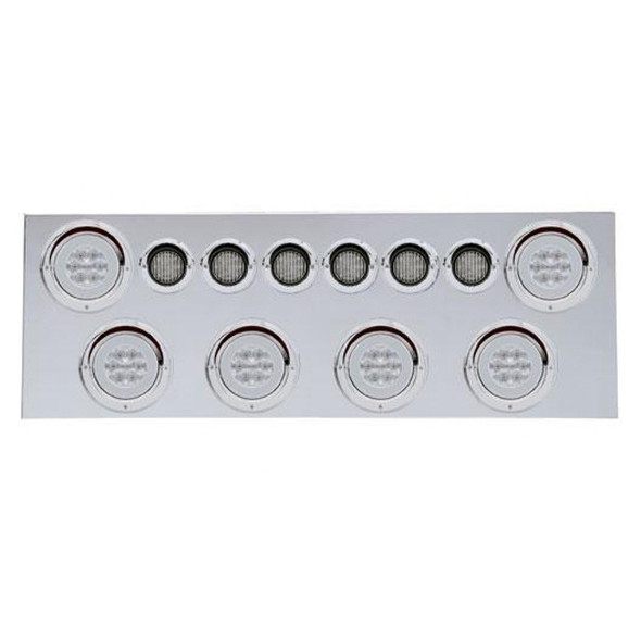 Stainless Rear Center Panel With Red Halo LEDs Clear Lens
