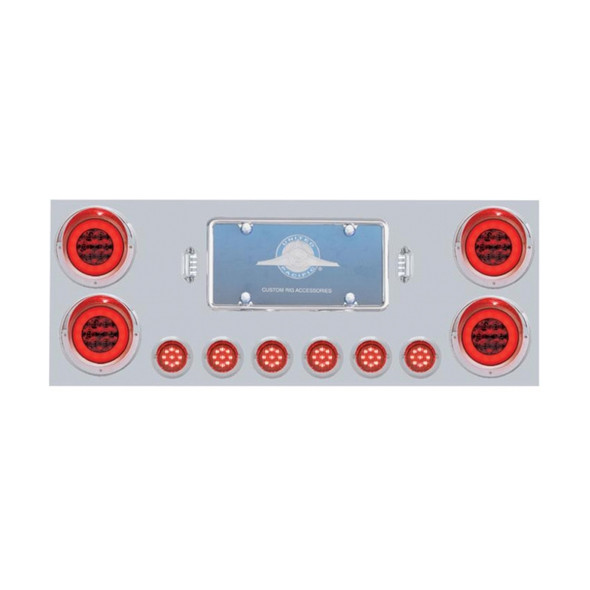 Stainless Rear Center Panel With GLO Halo LED Lights