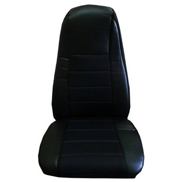 Black Vinyl Seat Cover With Fabric & Pocket