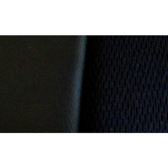 Black Vinyl Seat Cover With Fabric & Pocket Close Up