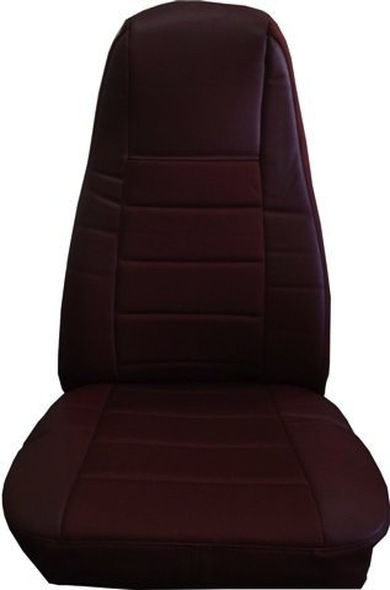 Burgundy Vinyl Seat Cover With Fabric