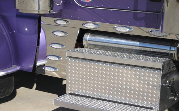 Peterbilt 379 388 389 Cab Cowl & Sleeper Panel Kit W/ M1 Style LEDs