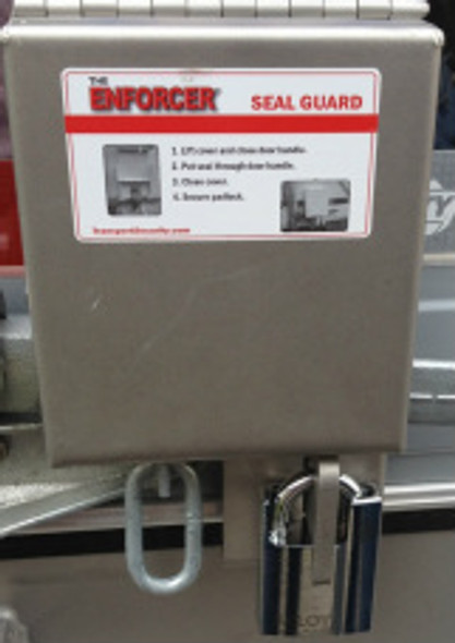 The Enforcer Seal Guard Lock Stainless Steel Close Up