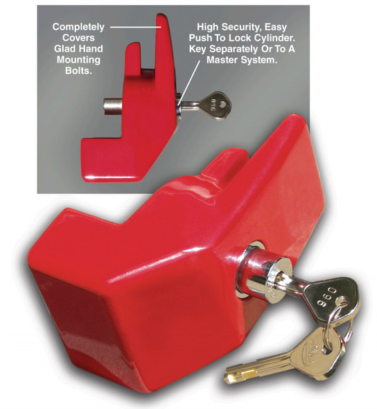 The Enforcer Aluminum Alloy Trailer Air Brake Glad Hand Lock