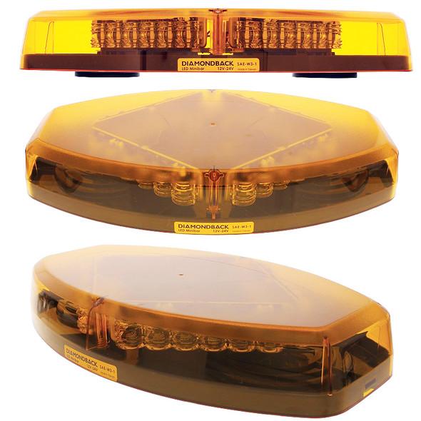 LED Diamond Warning Light Bar Unlit