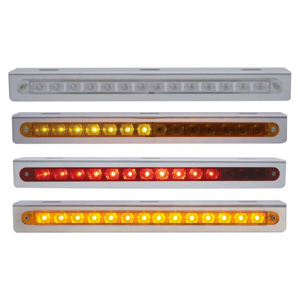 """Sequential 12"""" LED Light Bar With Bracket"""
