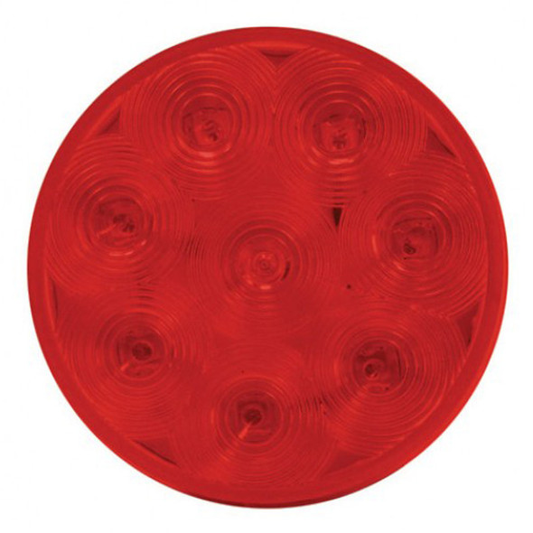 """4"""" Red Economy Stop Turn & Tail 8 Diode LED Light Red Lens"""