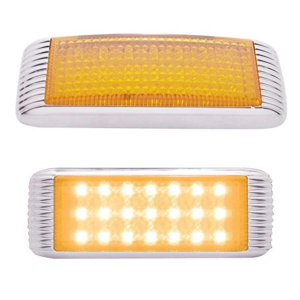 Amber LED Flush Mount STT & PTC Light With Bezel